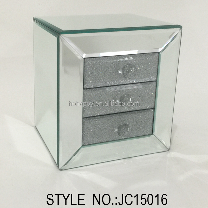 cosmetic jewelry mirror back display case