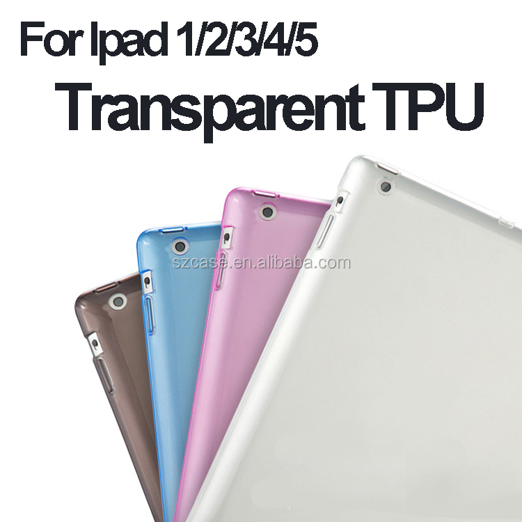 Transparent Ultra-thin TPU Case Cell Phone Case for Ipad 2 / 3 / 4 / 5 / 6