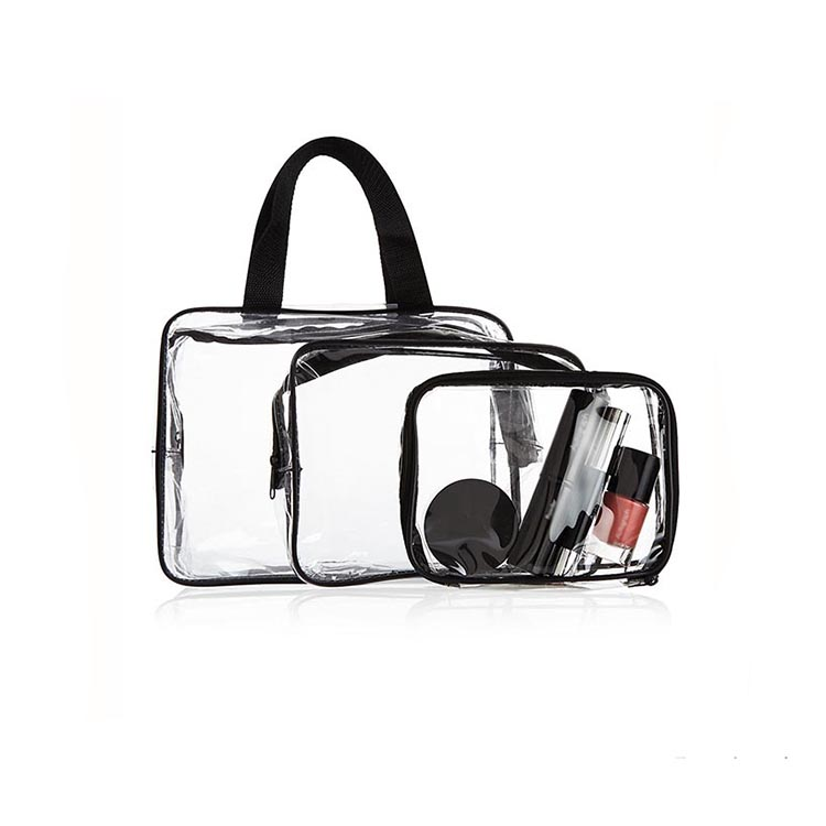 1CS0277 Women Clear Transparent Makeup Pouch Bags Travel PVC Cosmetic Bags Cases