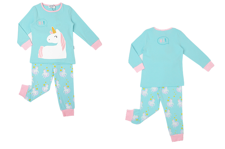 Wholesale long sleeve Unicorn children girl pjs pajamas sleepwear