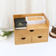 Bamboo wooden multifunctional cosmetics ornament jewellery separate desk storage box in malaysia