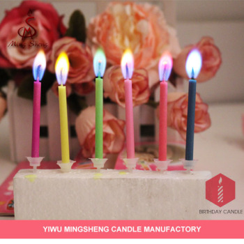 12pcs Magic Birthday Candle Color Flame Party Candles