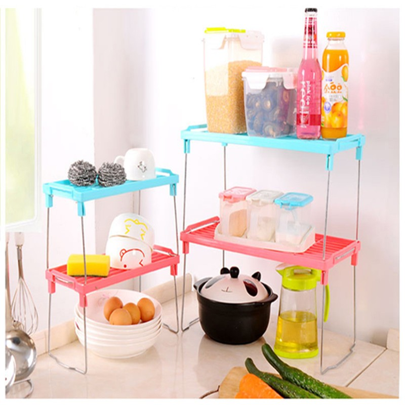 DIY microwave oven shelf kitchen storage holders racks home organization