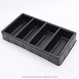 Pretty Black PVC PET PP PS Plastic Blister Tray For Underwear Stockings