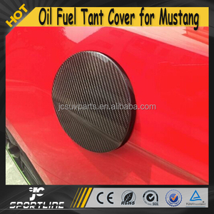 Carbon Fiber Oil Fuel Tank Cover for Ford Mustang 2015