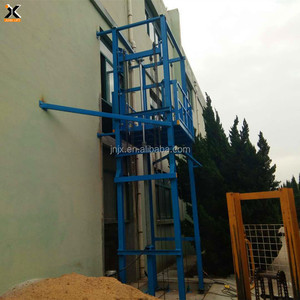 5-20ton 5m 8m 10m good quality hydraulic wall mounted guide rail cargo material vertical lift platform with CE ISO TUV