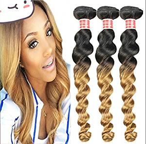 Wigsforyou@Peruvian Loose Wave Virgin Hair Weave Bundles Grade 7A color 1B/27 Peruvian Remy Human Hair Extensions 1Pcs Lot 50g