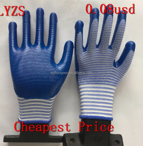 Coated Nitrile Work Glove/nitrile Gloves Price/heavy Duty Nitrle Gloves