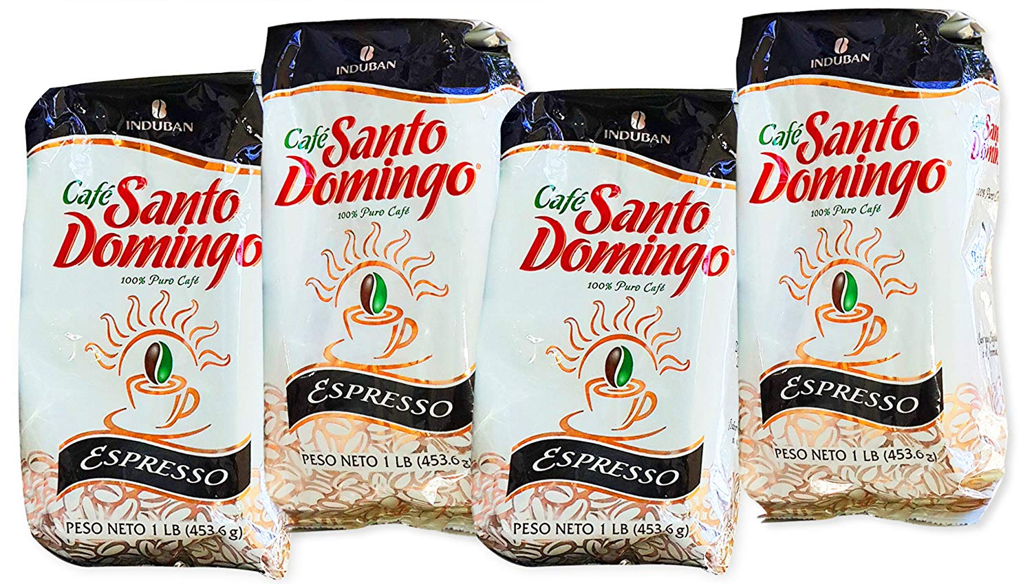 Santo Domingo Espresso - Ground Dominican Coffee 4 Bags / Pounds Pack