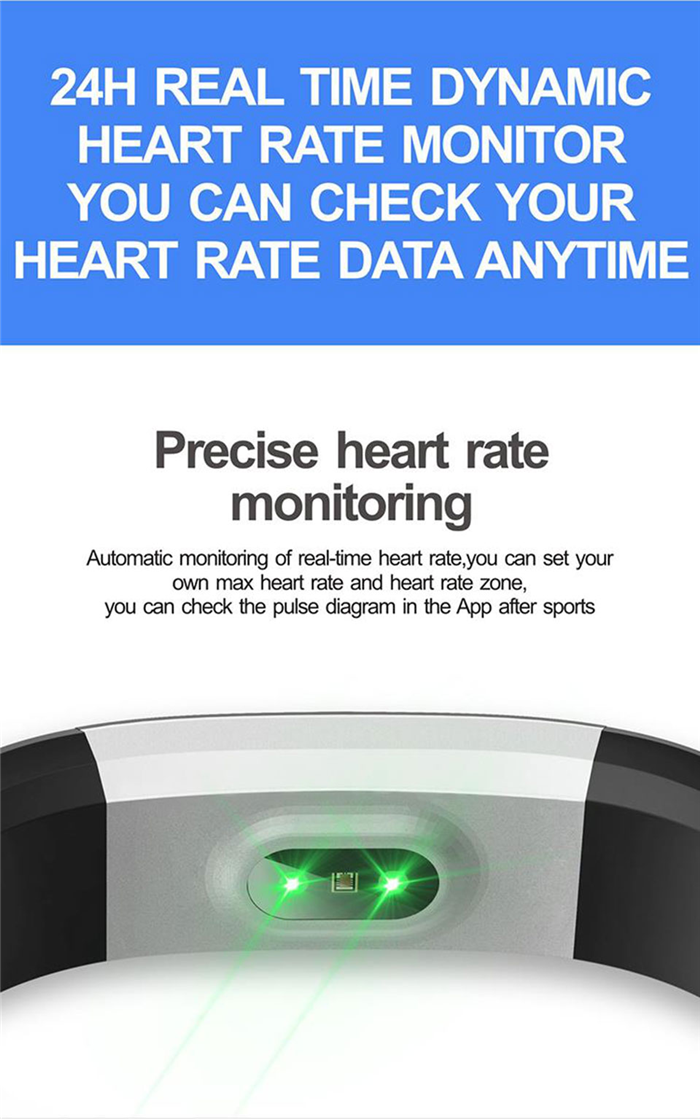 2017 New Model ID115HR Plus Smart Wristband Bracelet Fitness Tracker Smart Band Heart Rate Monitor