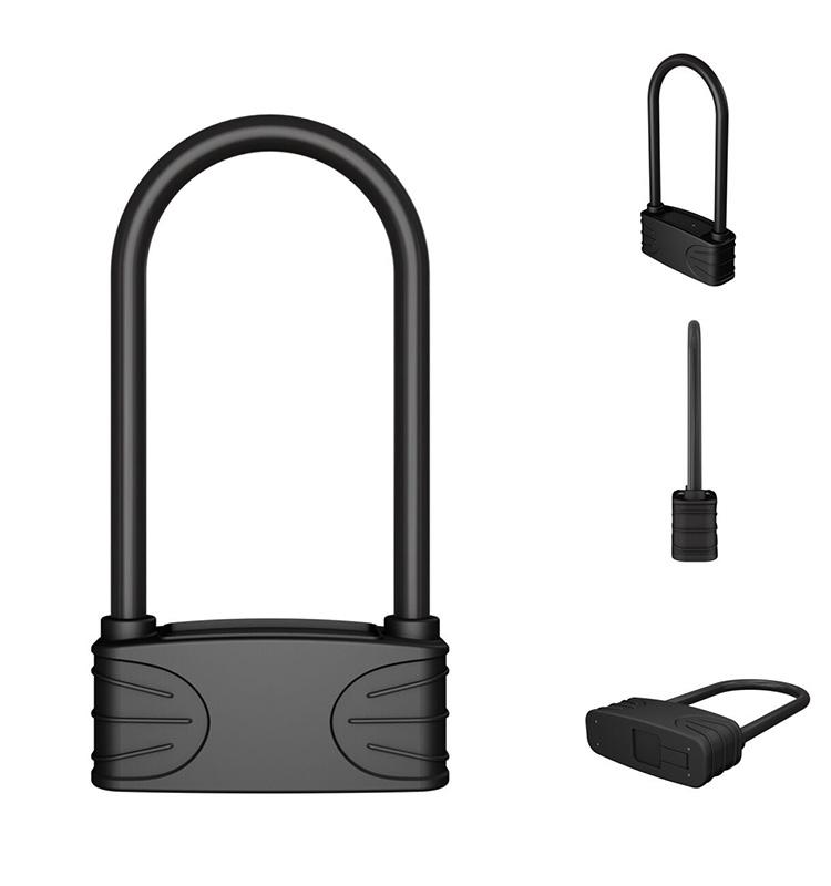 serrure de bicyclette dempreinte digitale de s/écurit/é chargeable anti-antivol intelligente pour le v/élo ext/érieur Cadenas de bicyclette