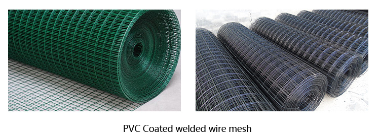 Welded wire mesh with PVC coating on the highway