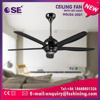70W hand craft natural wood decorative ceiling fan with LED light