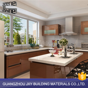Latest design melamine paint kitchen cabinet furniture set modern style design for wholesale