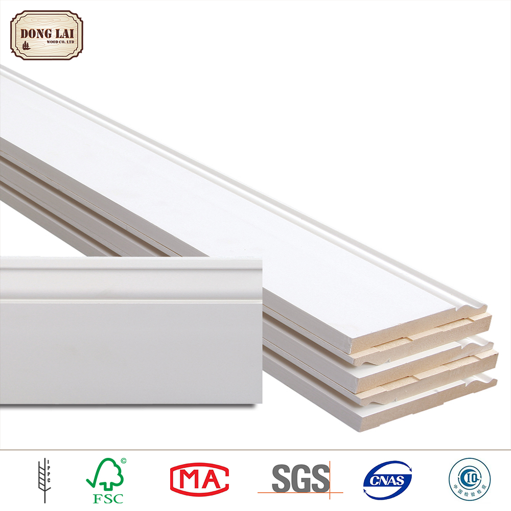 Mdf Baseboard White Gesso Painting Home Decoration Items Wood