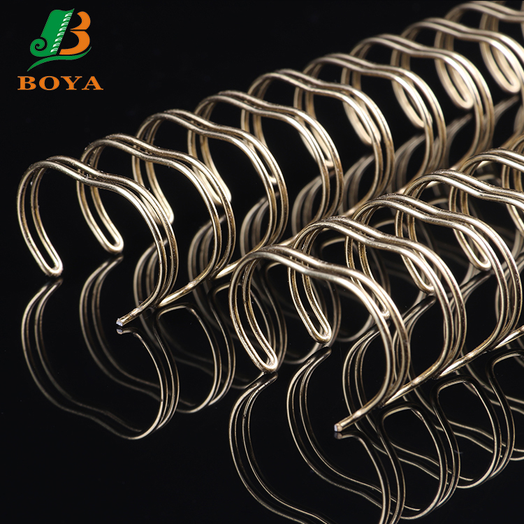 Fresh Materia Electroplating Gold Double Loop Book Binding Wire