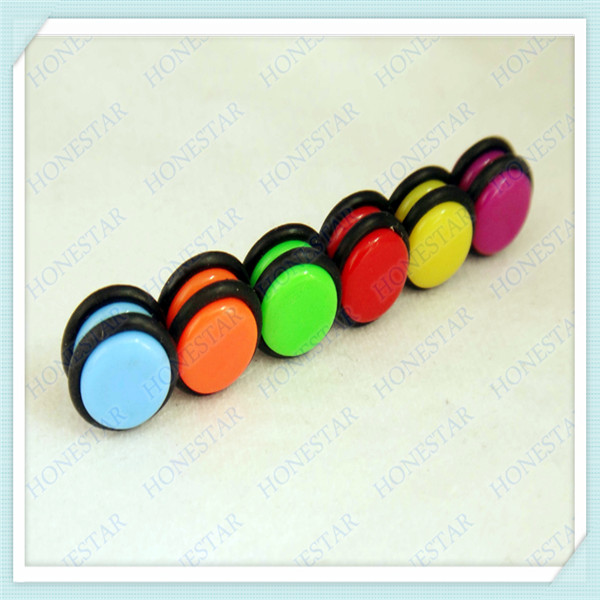 Factory acrylic fake ear tunnel piercing magnet plug jewelry