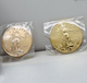 Fake queen elizabeth tungsten gold plated coin in stock /1 ounce American eagle tungsten gold coin