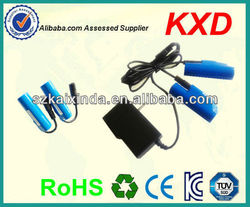 lithium-ion heated shoes battery 3.7v 2200mah DC output