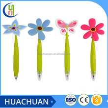 hot selling flower shape cheap ball pen for students and kids
