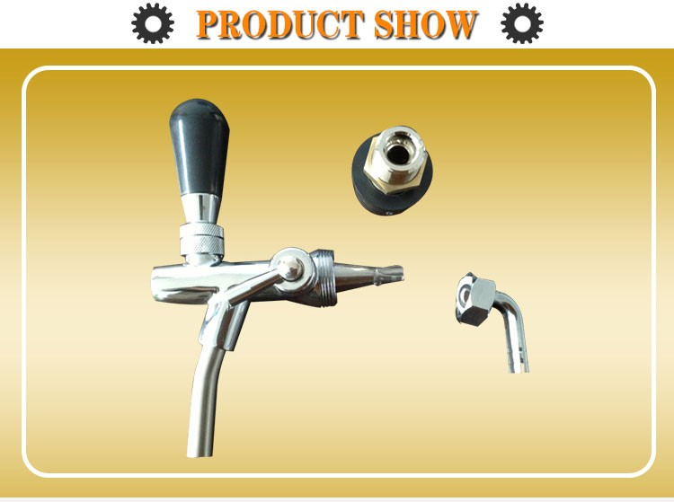 Big production ability beer valve spare parts with cap