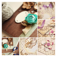 Diy small wholesale craft card decoration backdrop dry paper flower