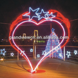 Beautiful love signal heart and star LED motif car for festival decoration LED christmas lights, LED holiday lights