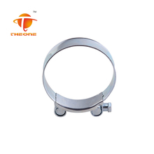 China Supplier High Performance Heavy Duty Single Bolt Zebra Hose Clamp
