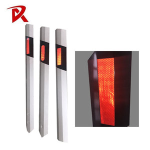PVC Flexible Pole Road Warning Reflective Delineator