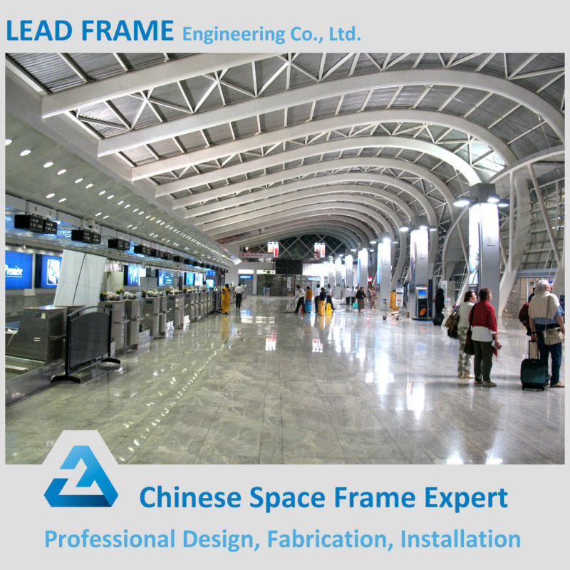 long span hot dip galvanized airport roof structure with panel