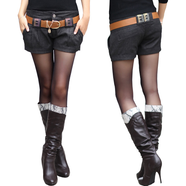 2091ef4abb9b Get Quotations · 2012 slim all-match plus size woolen shorts autumn and winter  female boots pants winter