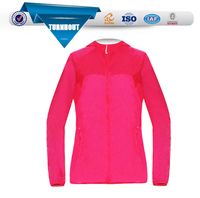 Custom light weight ladies pink summer quick dry coat