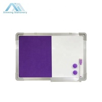 Combo Felt Fabric Dry Erase White Boards Notice Pin Board