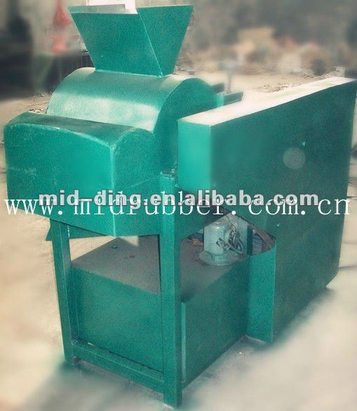uncured rubber recycling machine from tire plant