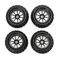 New 4PCS Plastic Wheel Rim and Rubber Tires For HSP 1 10 Monster Truck RC Car