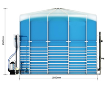 assembled medium scale biogas power plant for cooking and electricity