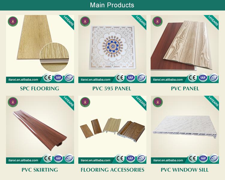 Pisos de lujo azulejo de piso de PVC SPC de suelo de vinilo