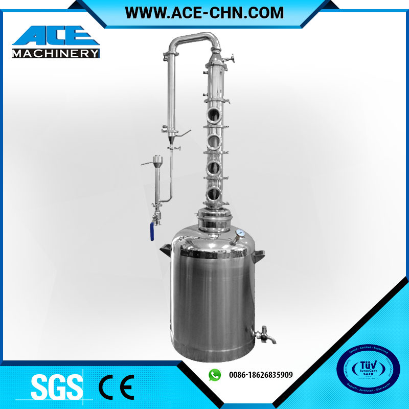 "50L/100L Modular home stainless steel alcohol distiller/alcohol distillation equipment with 4"" reflux column price"