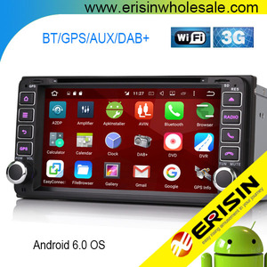 Erisin ES6603F Car Multi-media Stereo DVD Player 6.95 Inch Android 6.0 GPS 3G BT for Vios Vitz Hilux