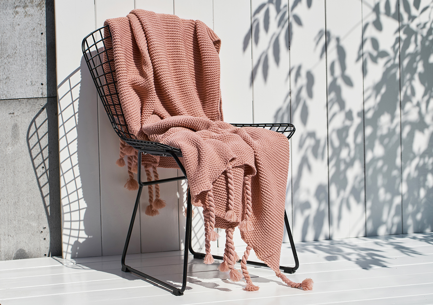 BOJAY  New Nordic style 100% Acrylic Knit Bed Blanket Home Soft Cover Hotel Tassel Knitted Throw Blanket