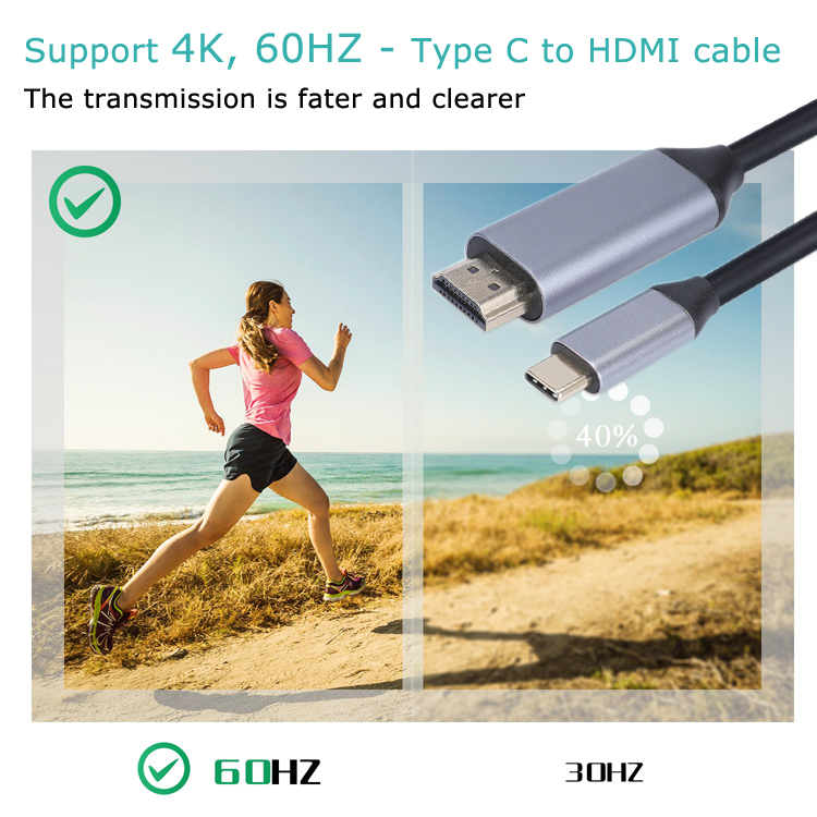 3840*2160 60Hz aluminum alloy shell Cable Type-C to HDMI