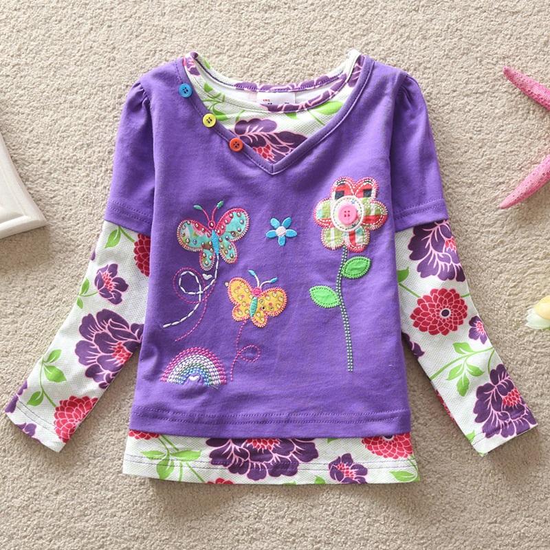 HTB1F3MKfIbI8KJjy1zdq6ze1VXaU - Girls Long Sleeve All Year T-Shirt, Long Sleeve, Cotton, Various Designs and Prints