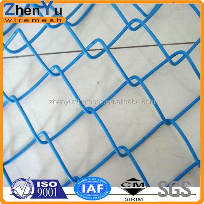 9 Gauge Plastic Chain Link Galvanized Diamond Wire Mesh Fence Price ...