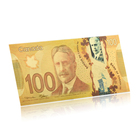 Art Crafts Colorful Canada Paper Money 24K Gold Banknote Souvenir Items