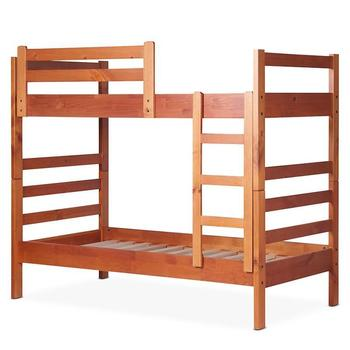 Brown color Mainstay Better Homes and Gardens Leighton Twin Over Twin Wood Bunk Bed