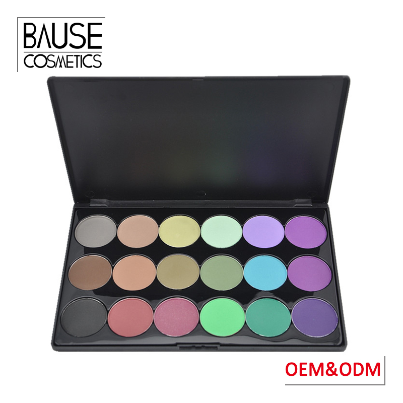 oem private label makeup 18 colors eye shadow palette romantic color 18 color eyeshadow palette