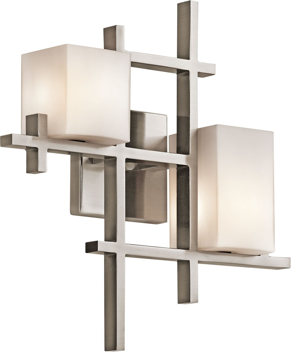 Kichler 42942CLP City Lights Wall Sconce 2-Light Halogen, Classic Pewter