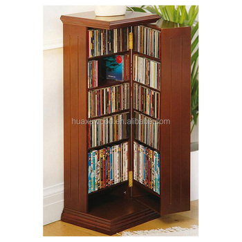 Creative Revolving Door Design Wooden Painting Bookshelves