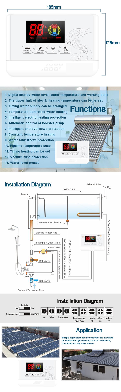 Accessoires pour chauffe-eau solaires, régulateur de chauffe-eau solaire