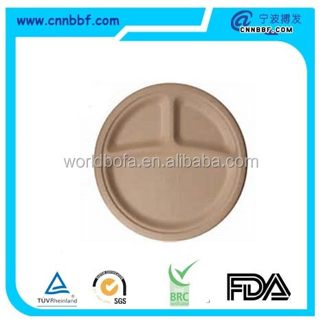 Wheat Straw/Bagasse Compostable 9 Inch Plate